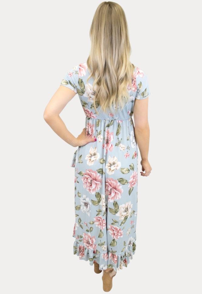 ruffle wrap maternity dress