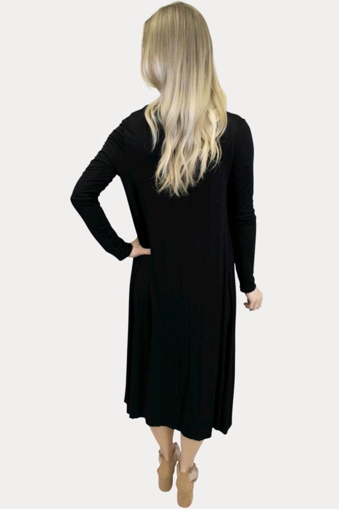 Long Sleeve Black Cardigan