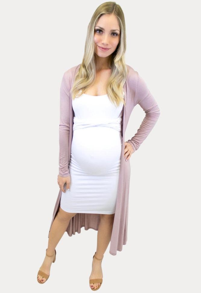mauve maternity Cardigan