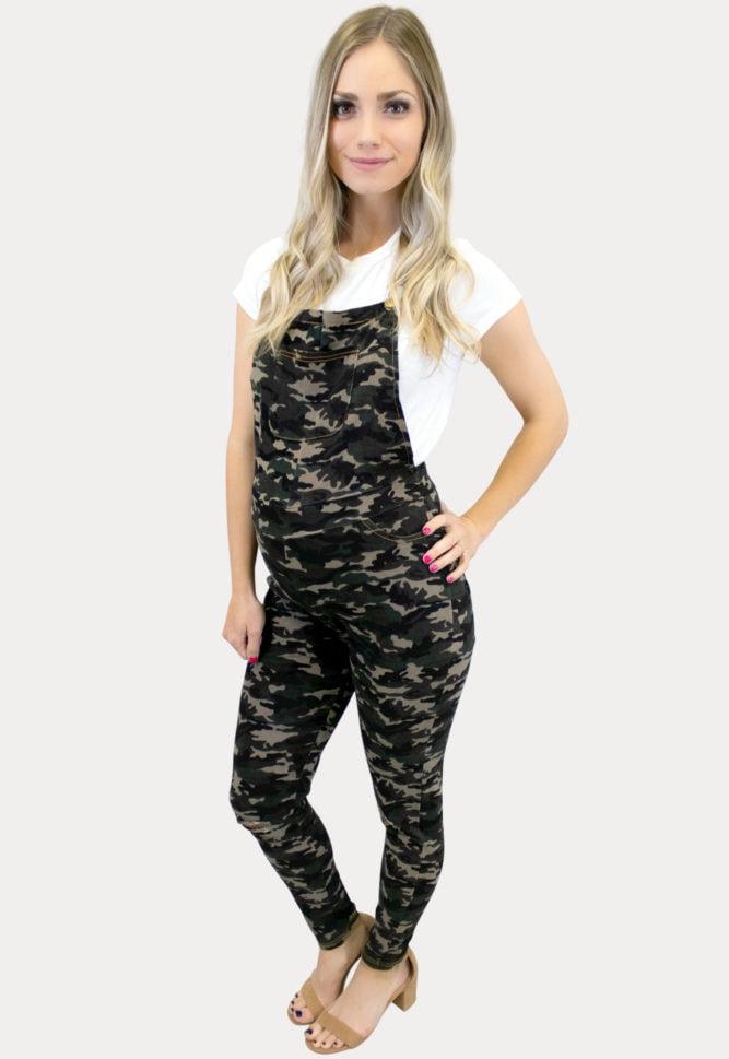camo maternity overalls