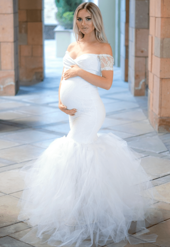 Lace Maternity Tulle Gowns