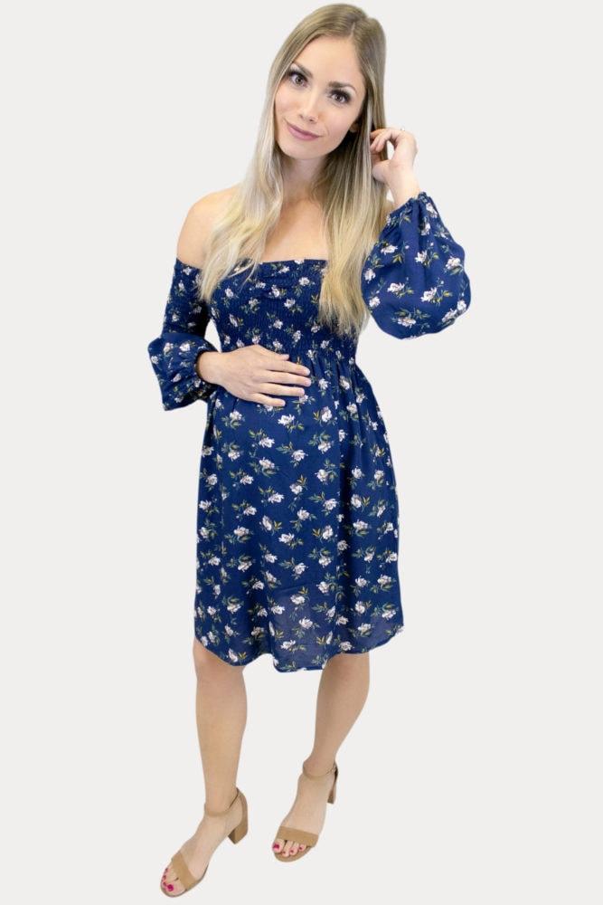 Smock Top Maternity Dress