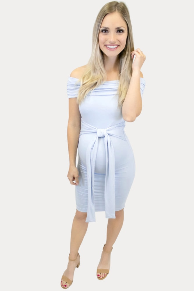 cute tie front maternity dress