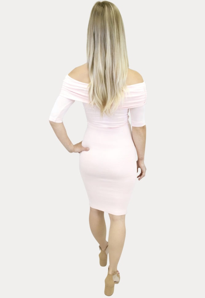 fold over tie front pregnancy dress