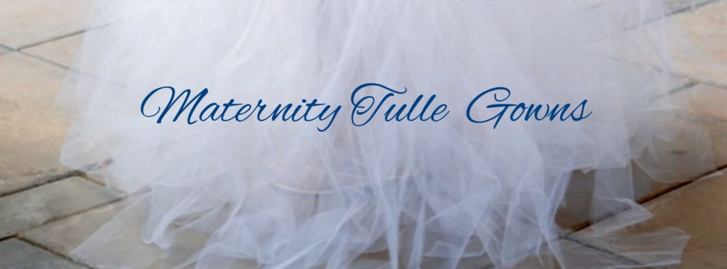 Maternity tulle gown blog