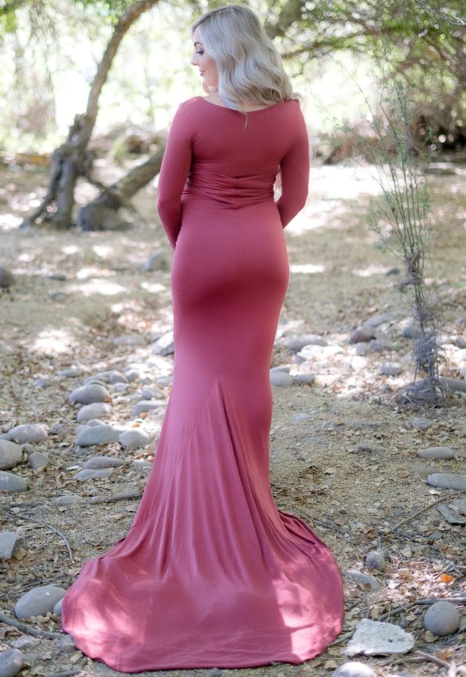 tie front maternity photoshoot gown