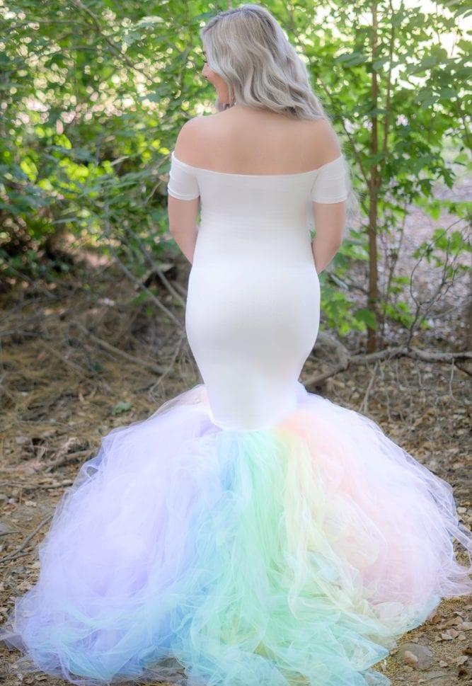 rainbow baby photoshoot gown