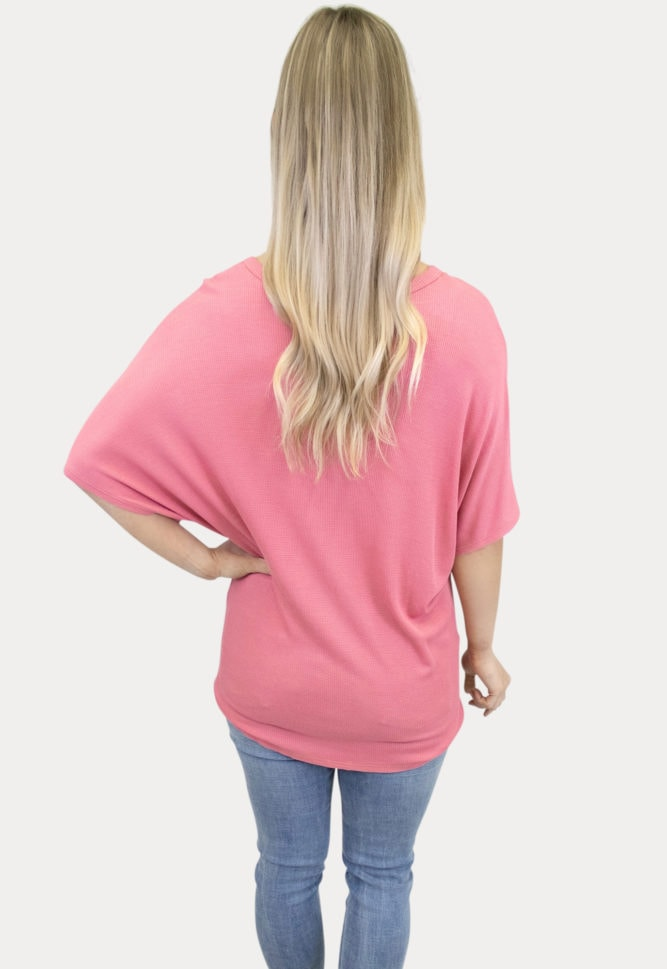 pink tie maternity top