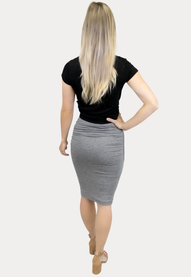 ruched maternity skirt