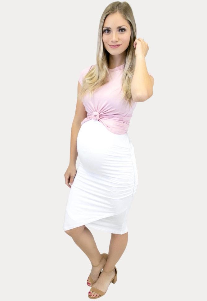 Rushed Skirt Crop Combo