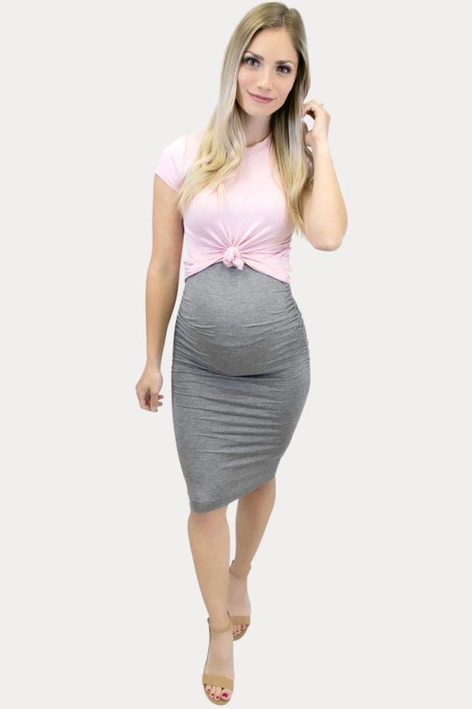 skirt crop maternity set