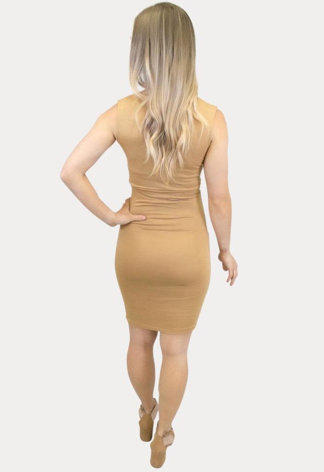 Sleeveless Deep Scoop Maternity Dress