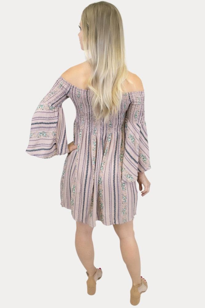 smocked Boho maternity dress