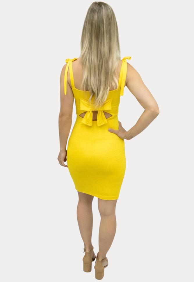 Bow Back maternity dress