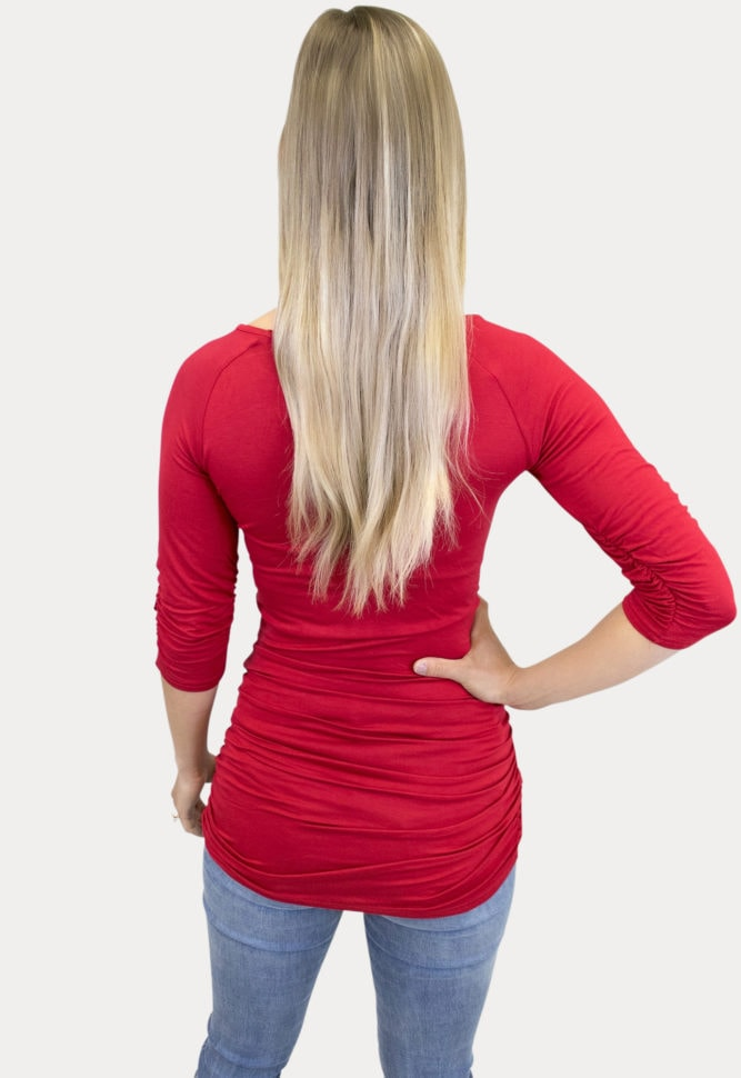 Basic red maternity tee