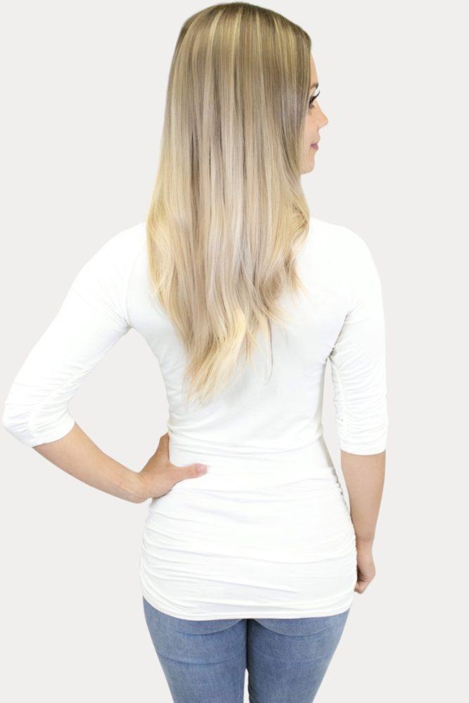 basic cream maternity top