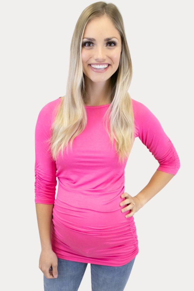 hot pink maternity tee