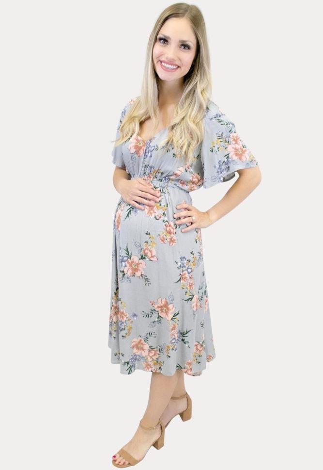 floral maternity sundress