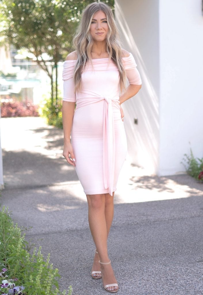 fold over tie front dress