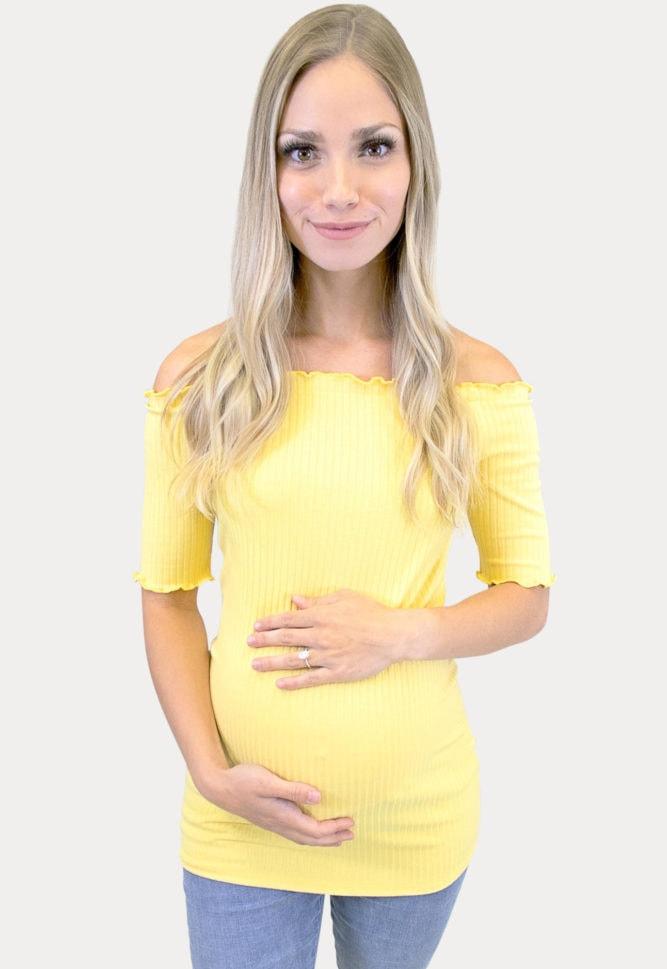 ribbed maternity shirt