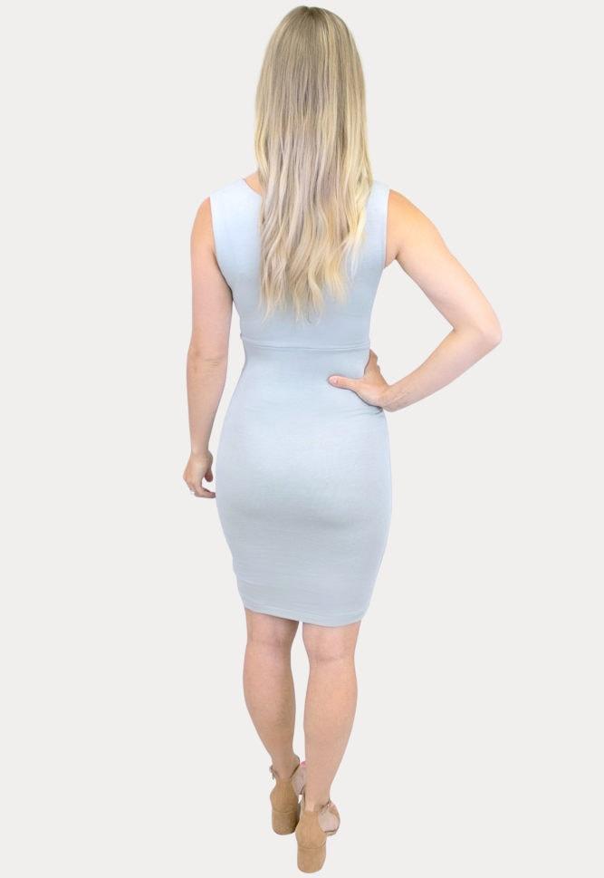 sleeveless sweetheart maternity dress