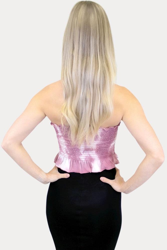 pink tie dye maternity top
