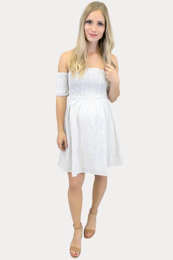 striped smock top maternity dress