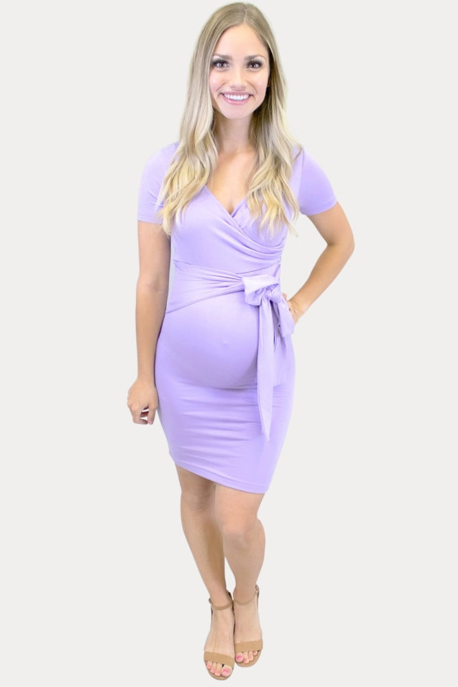 sweetheart bodycon maternity dress