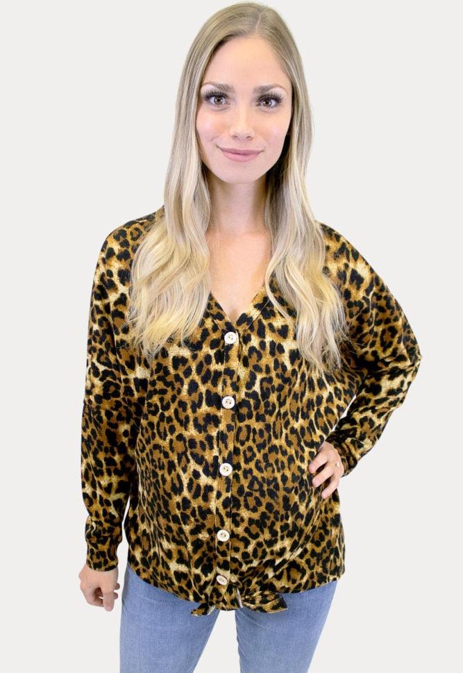 Tie Bottom Leopard Top