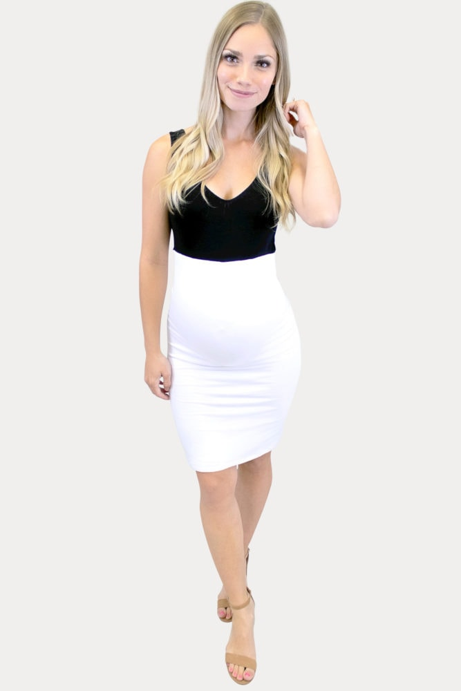 two-tone maternity dress