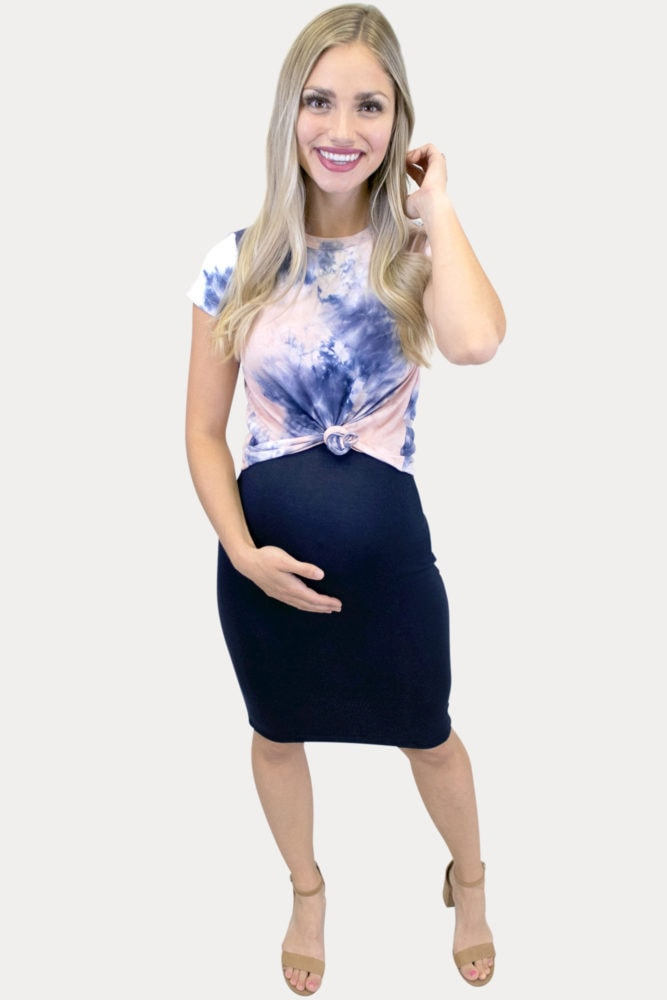 tie dye maternity outfit
