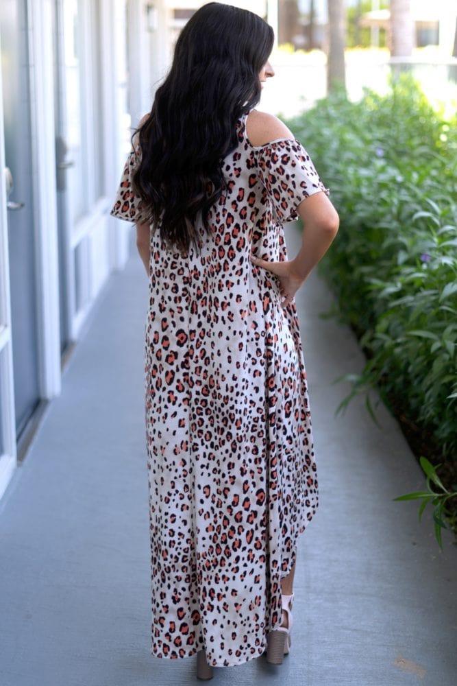 cream leopard dress