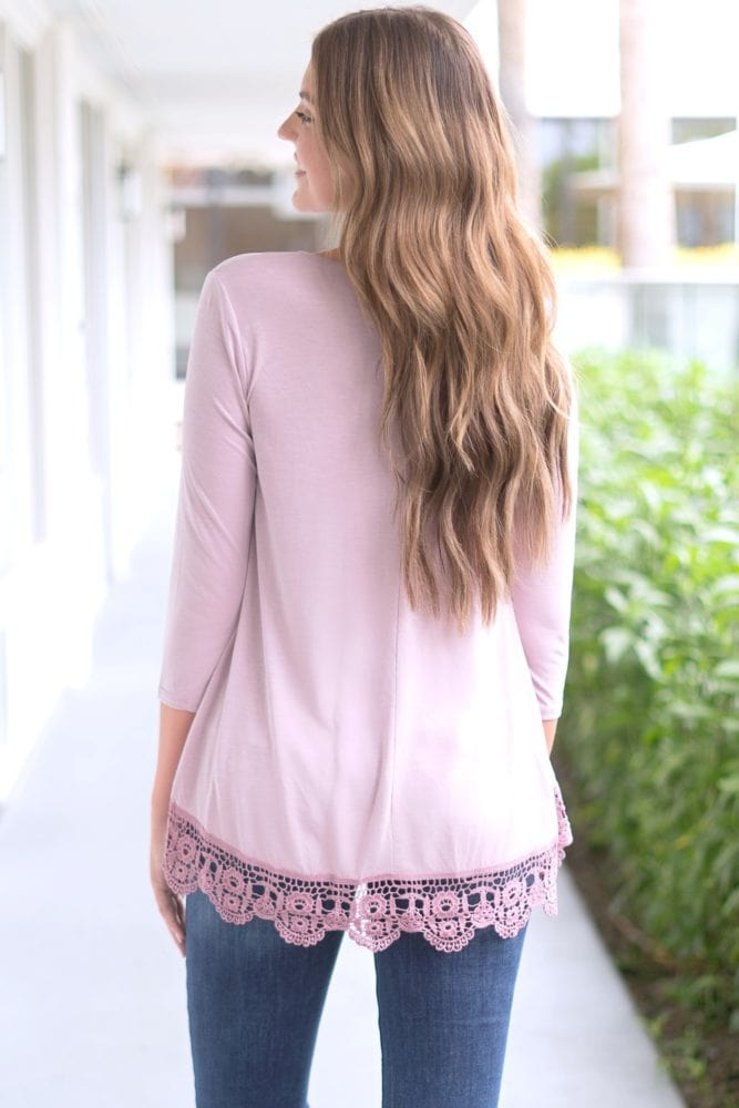 embroidered bottom tunic