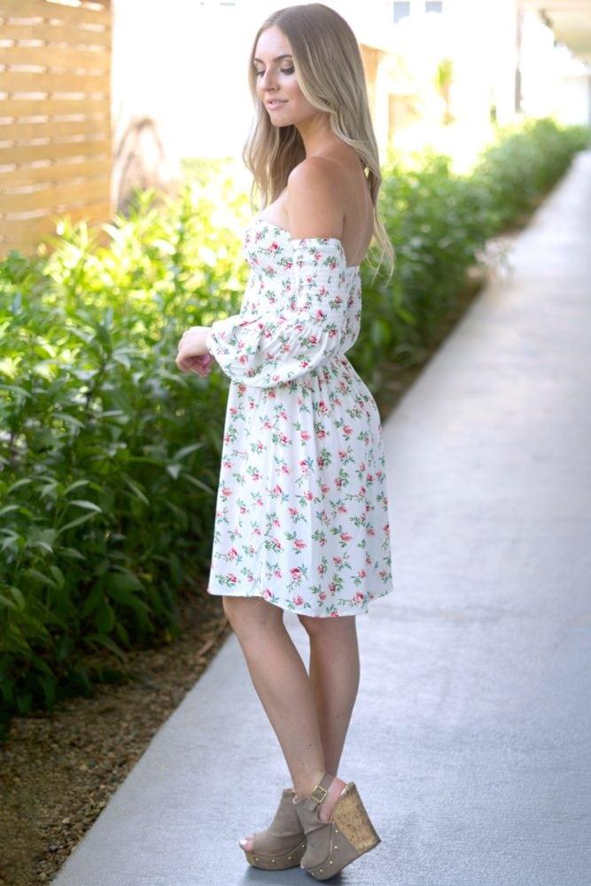 floral smock top dress