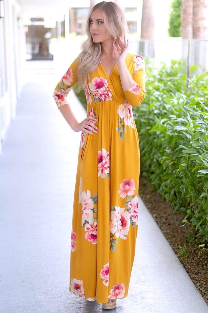 sweetheart floral maxi