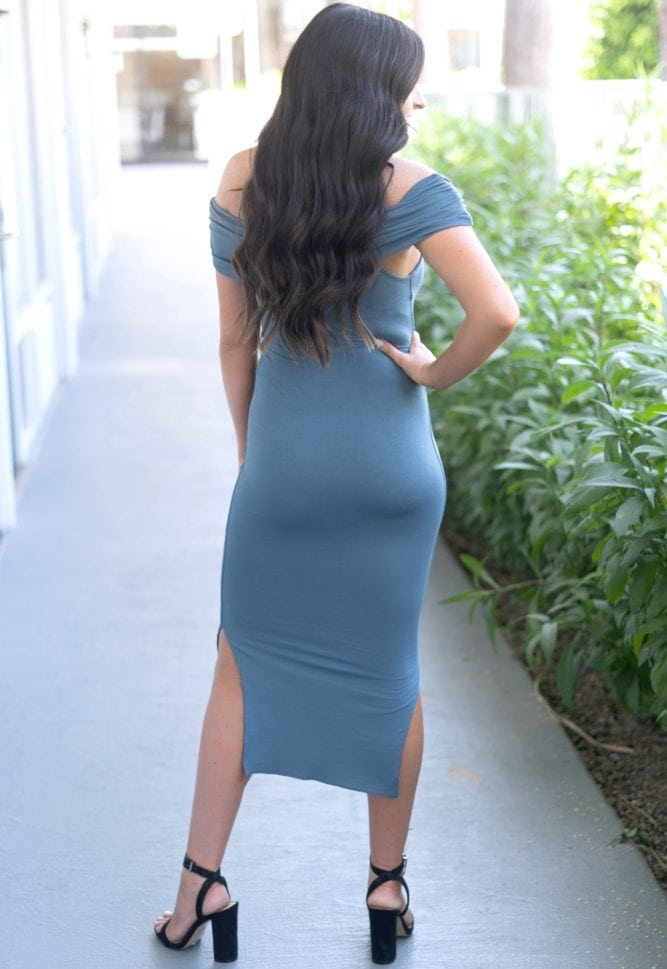 tie front fold over dress