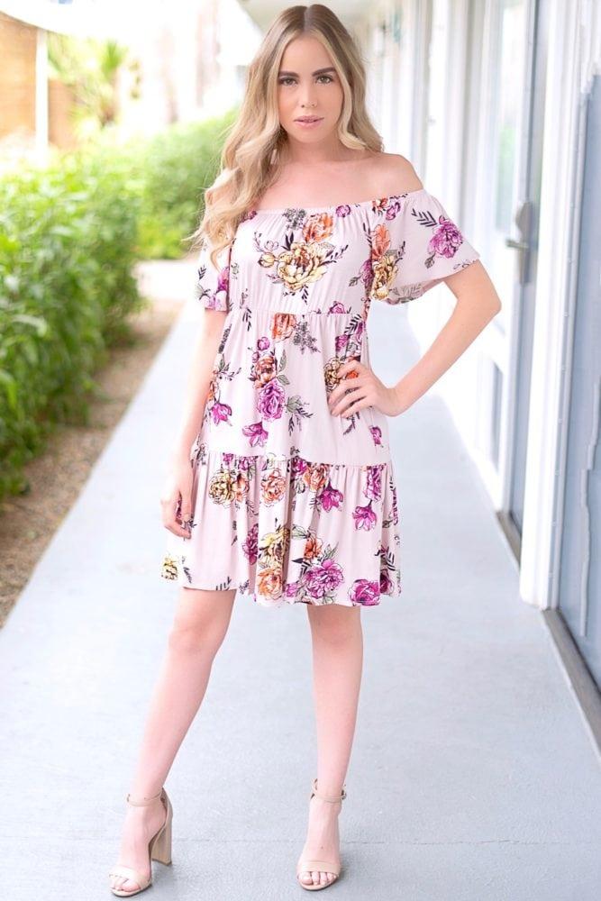 mini dress with flowers