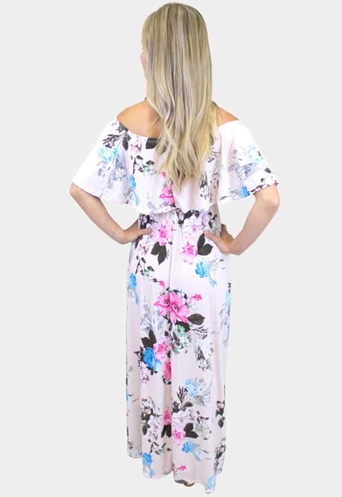 comfortable maternity maxi dress