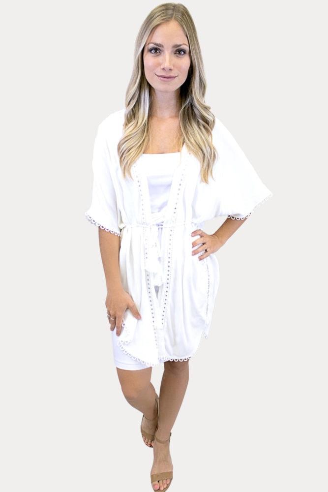 women's white kimono