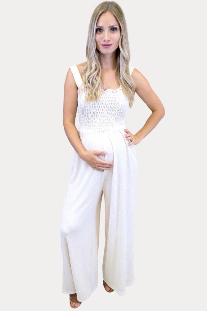 cream maternity jumper