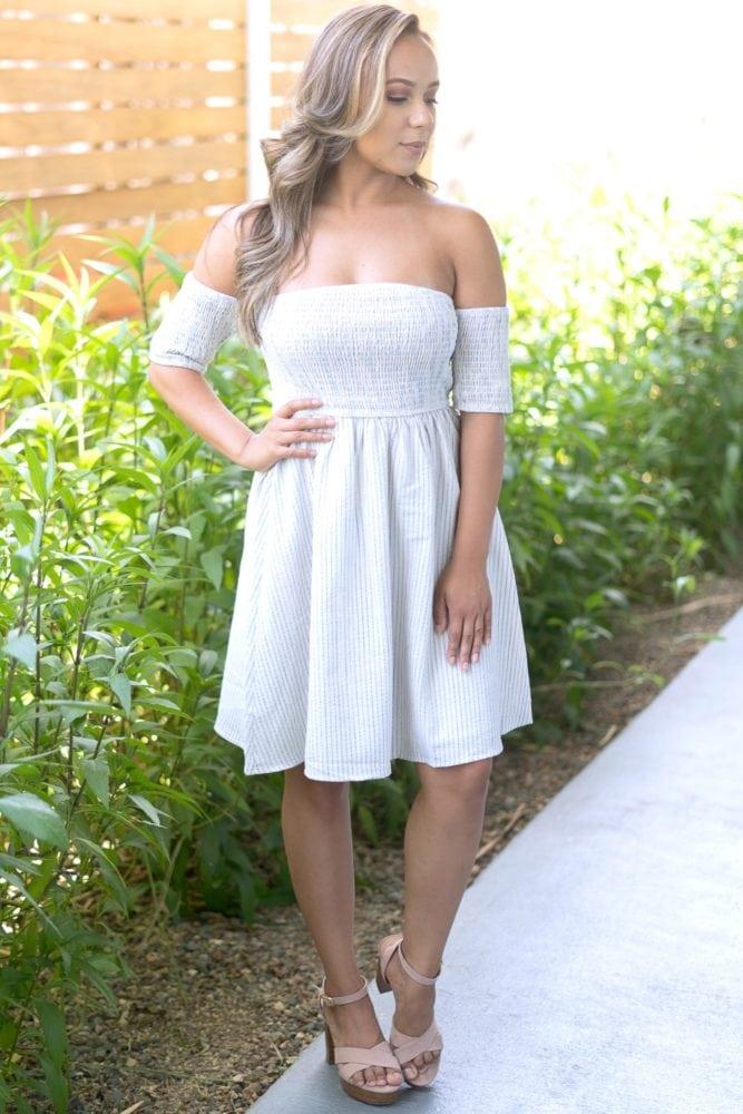 striped smock top dress
