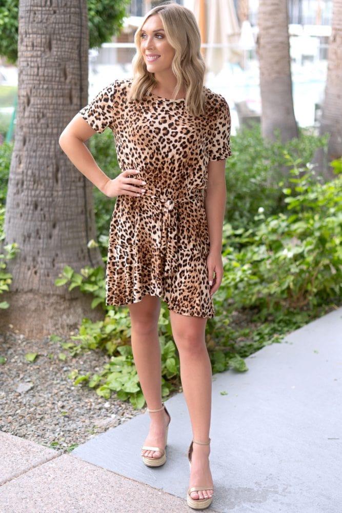 tie front leopard dress