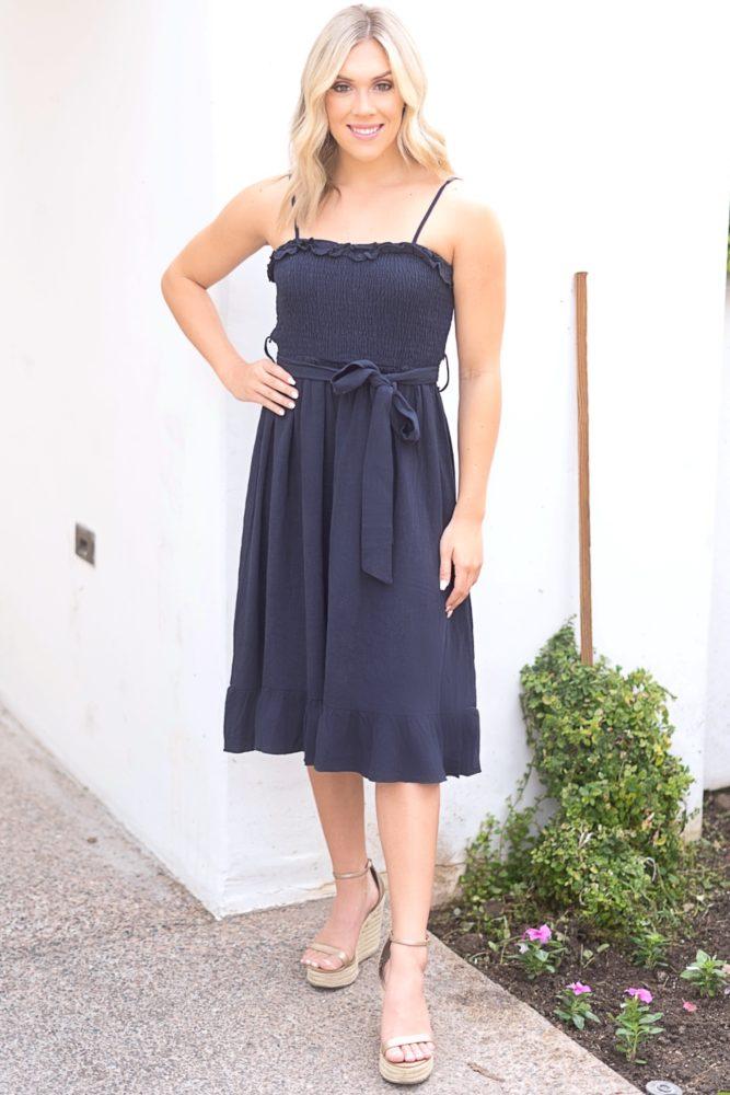 sleeveless smock top dress