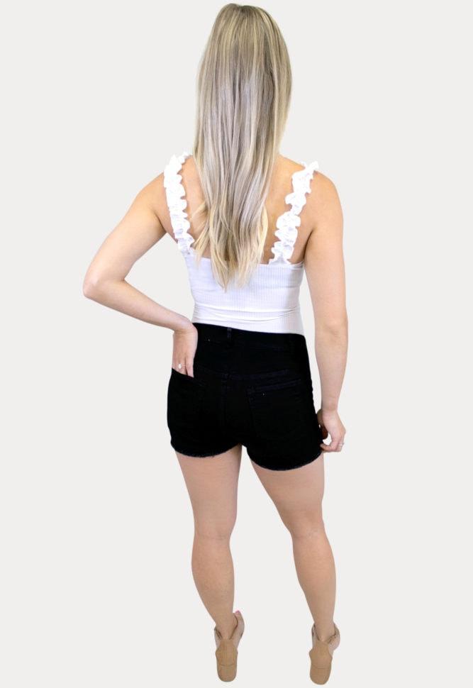 black maternity shorts