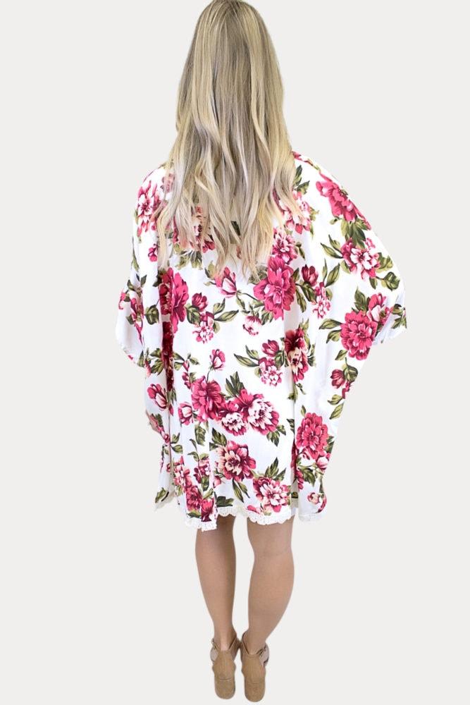 white women's kimono