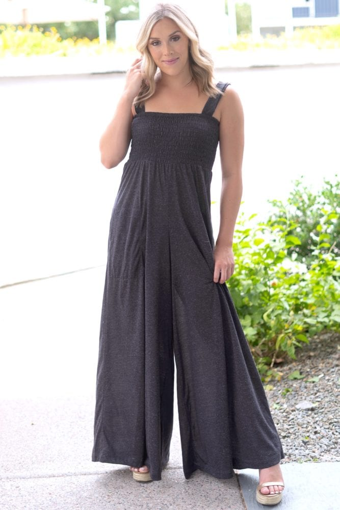 charcoal sleeveless jumper