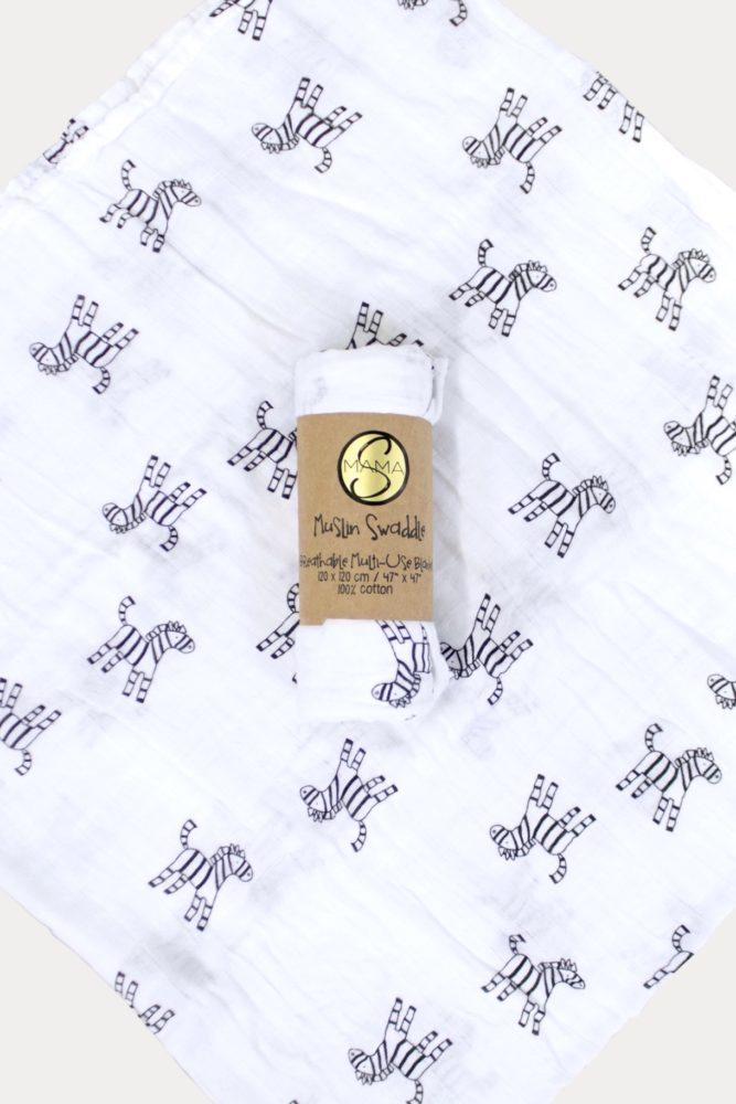zebra swaddle blanket