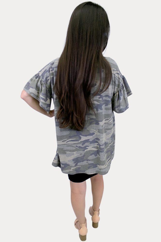 women's camo kimono