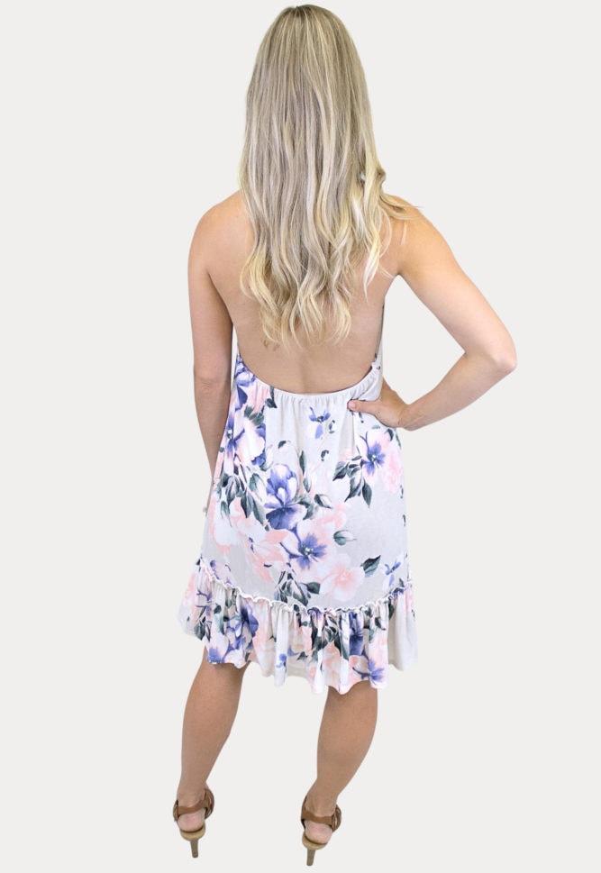floral halter top maternity dress