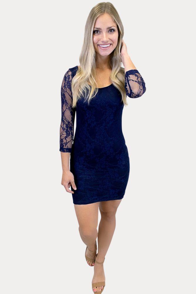 women's lace bodycon dress
